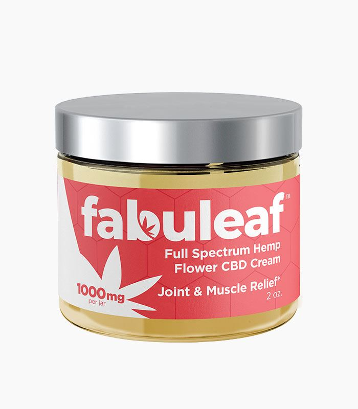 Full Spectrum Hemp Flower CBD Cream 1000mg per 2oz Jar | fabuleaf™ CBD Products