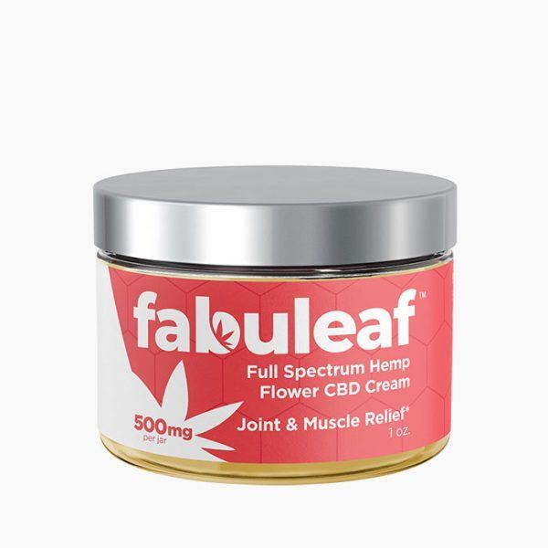 Full Spectrum Hemp Flower CBD Cream 500mg per 1oz Jar | fabuleaf™ CBD Products