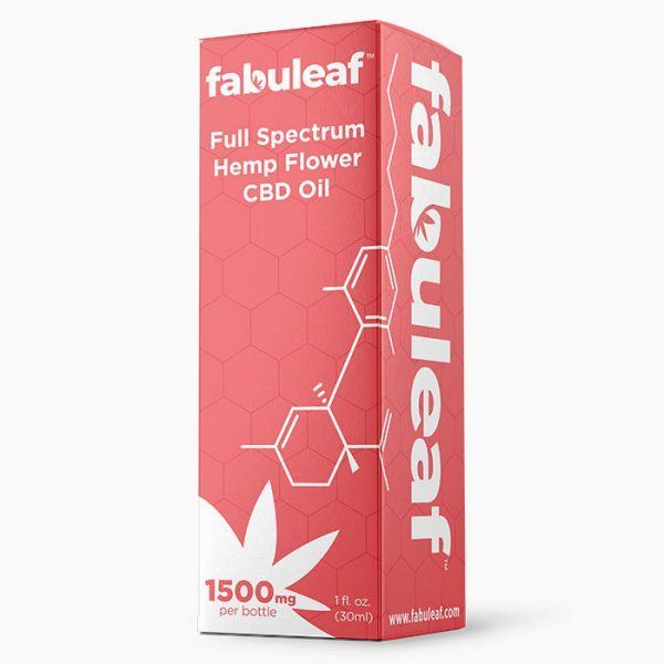 Full Spectrum Hemp Flower CBD Oil 1500mg per 1oz (30ml) Bottle Box | fabuleaf™ CBD Products