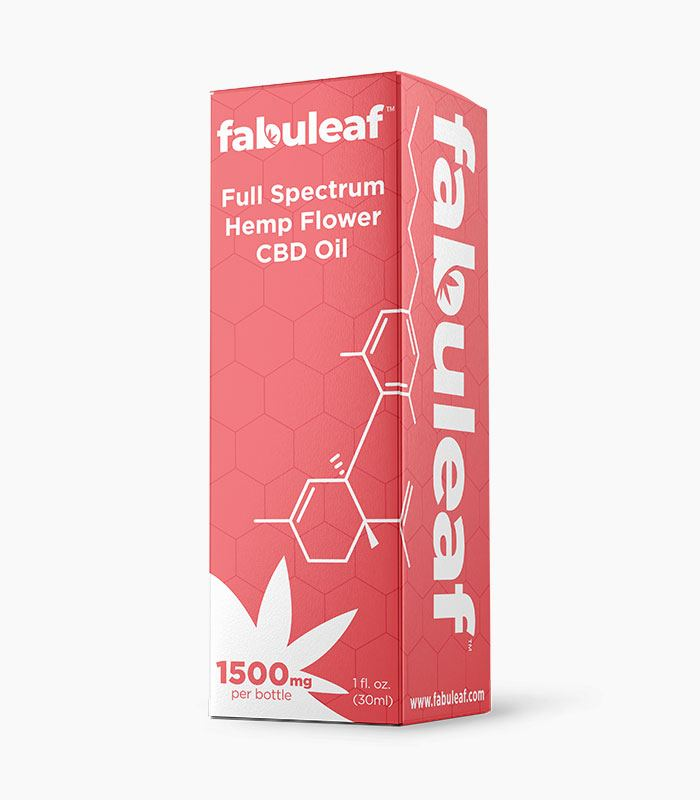 Full Spectrum Hemp Flower CBD Oil 1500mg per 1oz (30ml) Bottle Box | fabuleaf™ CBD Products