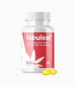 Full Spectrum Hemp Flower CBD Oil Softgels 300mg per 30 Count Bottle   fabuleaf™ CBD Products