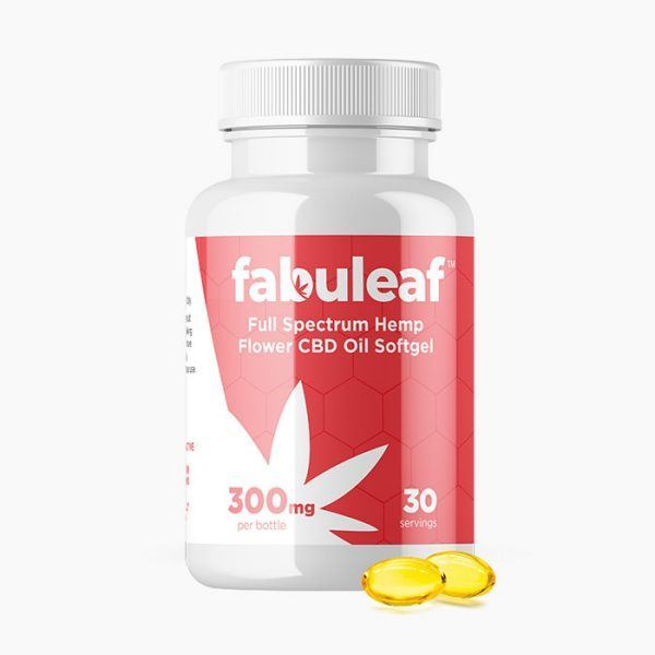 Full Spectrum Hemp Flower CBD Oil Softgels 300mg per 30 Count Bottle | fabuleaf™ CBD Products