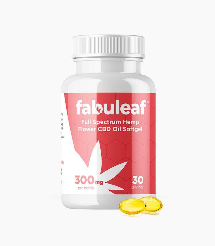 Full Spectrum Hemp Flower CBD Oil Softgels 300mg per 30 Count Bottle | fabuleaf™ CBD Products