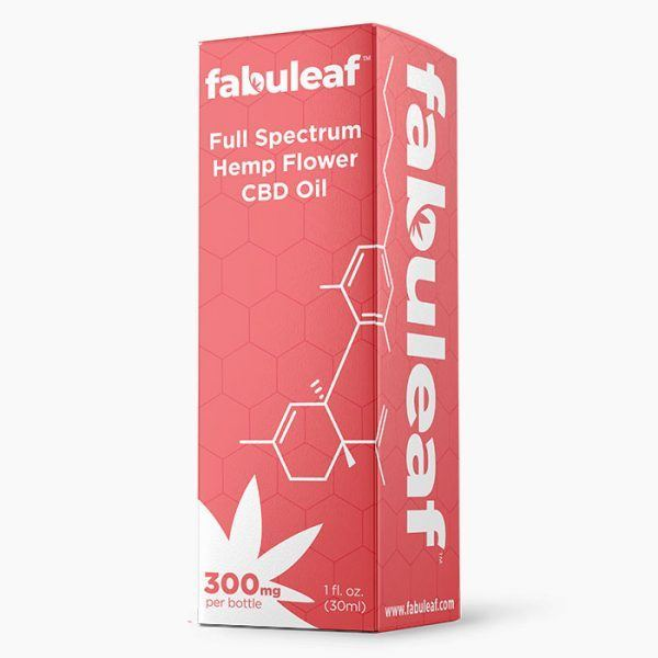 Full Spectrum Hemp Flower CBD Oil 300mg per 1oz (30ml) Bottle 30 Day Supply Box | fabuleaf™