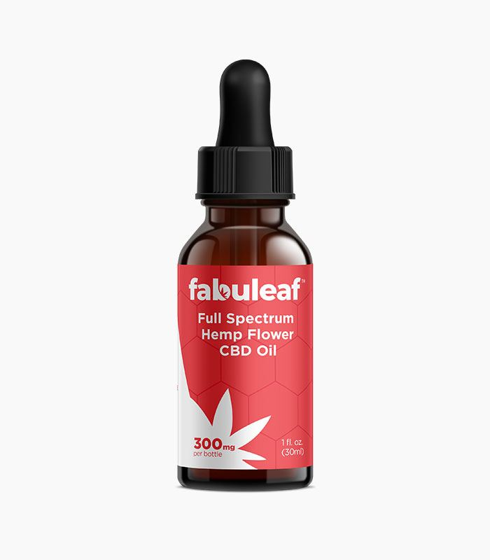 Full Spectrum Hemp Flower CBD Oil 300mg per 1oz (30ml) Bottle 30 Day Supply | fabuleaf™