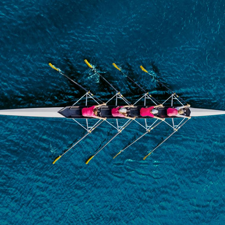 The Entourage Effect Rowing Team on Blue Water | Fabuleaf